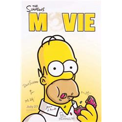 The Simpsons Movie signed one-sheet poster