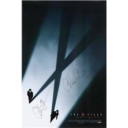 The X-Files: I Want to Believe signed one-sheet poster