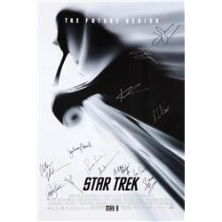 Star Trek signed one-sheet poster