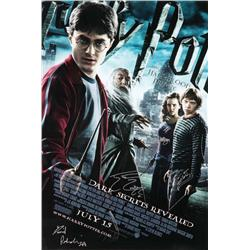 Harry Potter & the Half-Blood Prince signed one-sheet poster