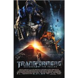 Transformers: Revenge of the Fallen signed one-sheet poster
