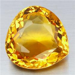 0.75-1.0ct. Natural Yellow Citrine Pear Cut 7mm (GMR-0142)
