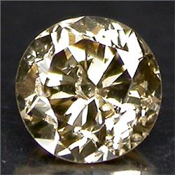 0.06ct. Beautiful Sparkling Natural Color Diamond Round Cut (GMR-0150B)