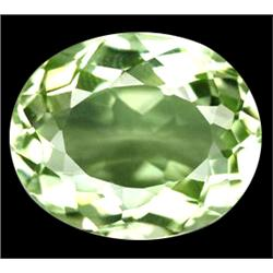 15.2ct Fantastic Oval Cut Light Green Amethsyt Brazil FLAWLESS (GEM-11013)
