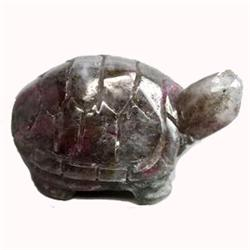 33.65ct Rare Carved Turtle Natural Ruby Zoisite (GEM-11409)
