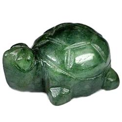 73.35ct Handmade Turtle Carved Natural Green Jade (GEM-12062)