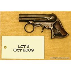 Remington Elliot pt. 22 cal. 5-shot pepper box  derringer in fair to poor condition.  Shows light  t