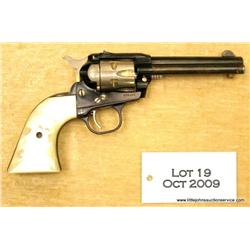 "Ruger, Single-Six Single Action revolver, .22  cal., 4-1/2"" barrel, blue finish with nickel  cylinde"