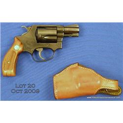 "SMITH & WESSON Model 36, #J651884, .38 Spl., 2""  barrel, blued finish, checkered walnut medallion  g"