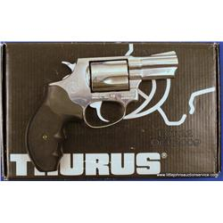 "Taurus DA revolver, .357 Magnum cal., 2-1/4""  barrel, stainless steel, hard rubber wrap around  blac"