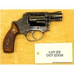 "SMITH & WESSON Model 36, #463474, .38 Spl., 2""  barrel, blued finish, bobbed hammer, checkered  wood"