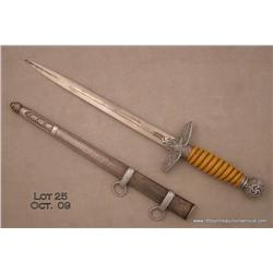 "Nazi Army dagger and scabbard, approx. 17""  overall, in very good condition showing the spread  eagl"