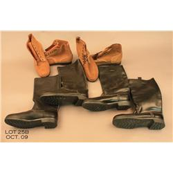 Four (4) pairs of military foot gear.  Est $150 -  $250