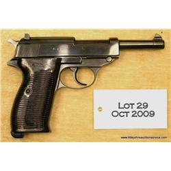 "WALTHER AC 41 stack date P-38, #4638g, 9mm,  re-blued finish, 5"" barrel, bakelite grips.  This  pist"