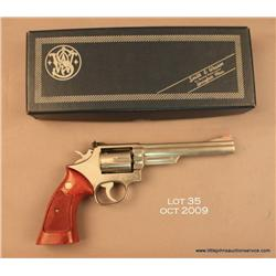 "SMITH & WESSON Model 66-1, #41K3973, .357 Mag., 6""  barrel, stainless, adjustable sights, checkered"