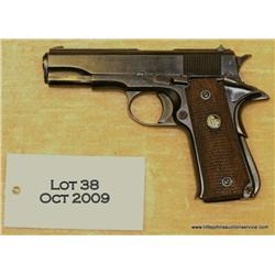"Llama Pocket Model semi-auto pistol, 9mm, 3-3/4""  barrel, blue finish, checkered medallion wood  gri"