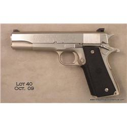 "Colt MK IV/Series '70 Government Model semi-auto  pistol, .45 auto cal., 5"" barrel, polished  stainl"