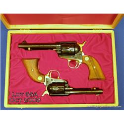Colt Commemorative two gun set, Carolina Charter  Tercentenary (1663-1963), one SAA model revolver