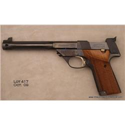 High Standard Supermatic Trophy 104 http://www.icollector.com/High-Standard-Model-106-Military-Supermatic-Trophy-semi-auto-target-pistol-22LR-cal-7-1-4-bar_i8649102