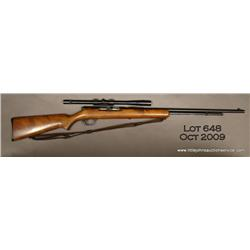 "Springfield Stevens semi-auto rifle, .22 cal., 24""  round barrel, black finish, wood stock, #NVSN."