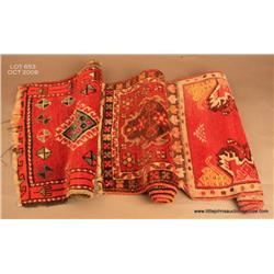 Collection of 3 Kalim Persian antique prayer  textiles.  Estimate $150 - $300