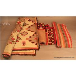 Collection of 3 Navajo textile weaving. Circa  1900-1930.  As-is.  Estimate $200-$300
