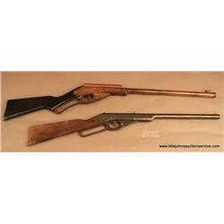 Lot of 2 collectible Daisy air rifles.  A Daisy  Golden Eagle 1936 showing decal 1886-1936 with  sig
