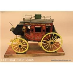 Handmade Stagecoach by noted artist Oscar M  Cortes. This is an older production for Wells  Fargo. F