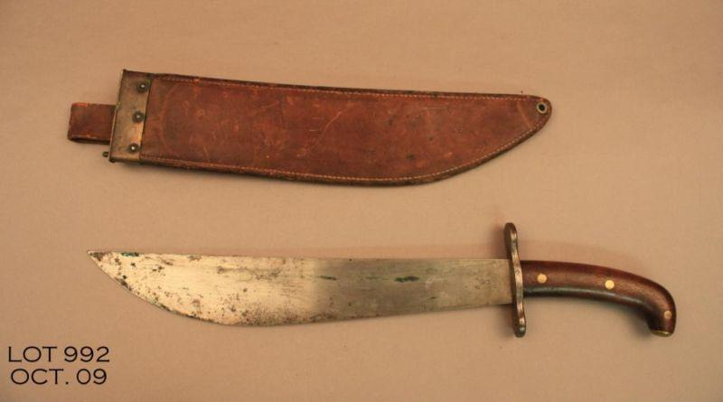 A C Co Marked Us Model 1917 Bolo Knife And Scabbard In