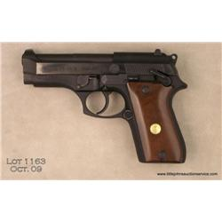 "TAURUS Model PT 58 S, # KIL26851, .380 ACP, 4""  barrel, blued finish, smooth walnut medallion  grips"