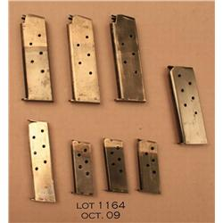 Lot of 8 misc. Colt pistol magazines including 3  1911 magazines, 1 1902 Model magazine, 1 .380  mag