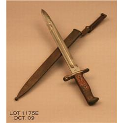 US Army 1899 Krag bayonet and scabbard.  Est. $100  - $200.
