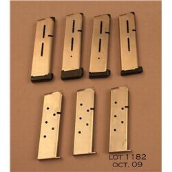 Lot of 4 Wilson Combat .45 caliber pistol  magazines and 3 Randall .45 caliber pistol  magazines, al
