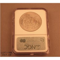 1897 Morgan dollar MS64 graded in holder by NGC.   Est. $80 - $160