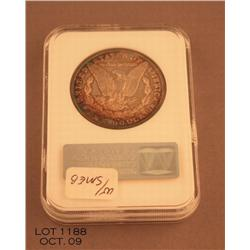 1884 AU55 graded by NGC. Nicely toned.  Est. $75 -  $150