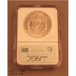 1921 Morgan dollar MS64 graded by NGC exceptional  striking.  Est. $100 - $200