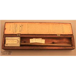 Scarce 'Dotter' Apparatus for use with the Service  Automatic Pistol in its original wood box with