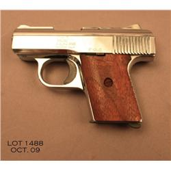 "Raven Arms Model MP-25 semi-auto pistol, .25 cal.,  2-1/2"" barrel, nickel finish, wood grips,  #7344"