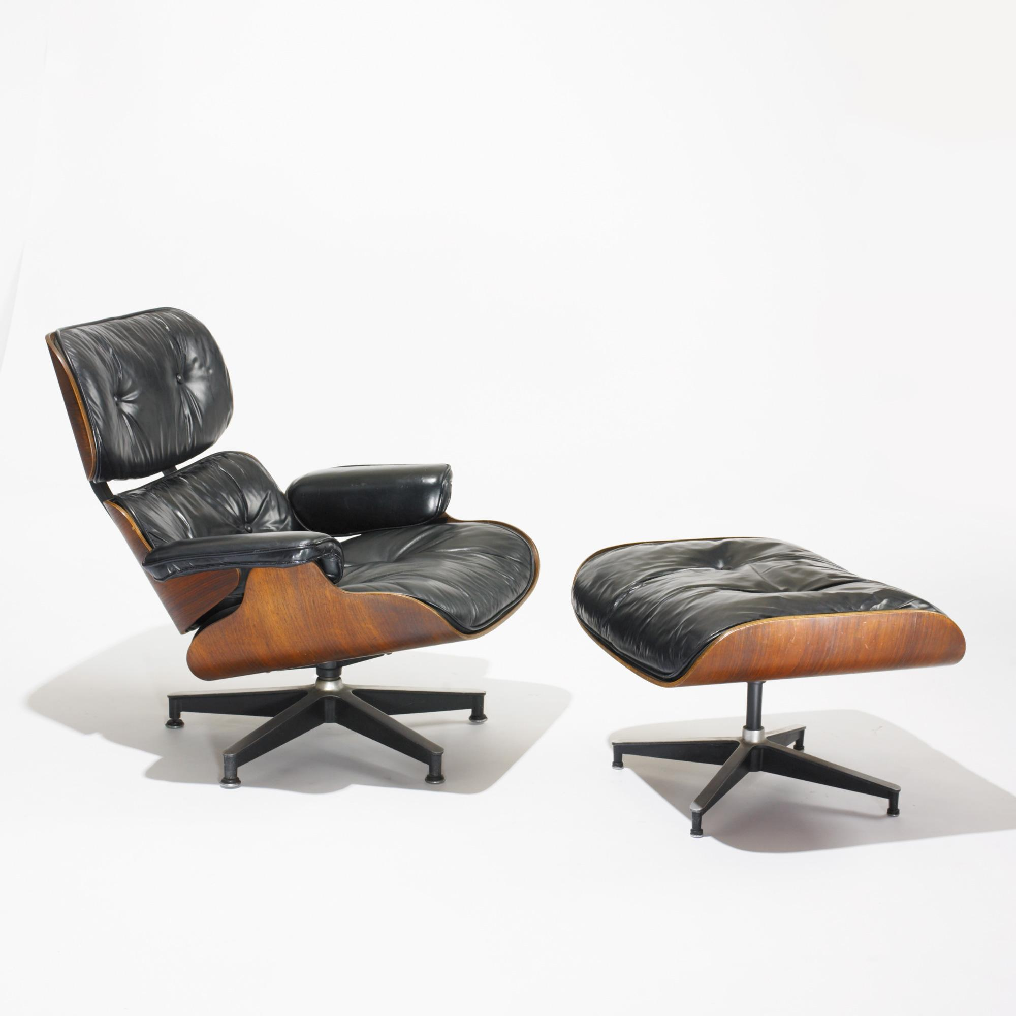 charles and ray eames 670 lounge chair and 671 ottoman. Black Bedroom Furniture Sets. Home Design Ideas