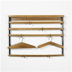 Carl Aubock coatrack with hangers