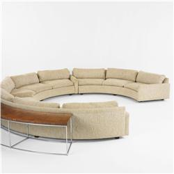 Milo Baughman sectional sofa with table