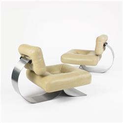 Oscar Niemeyer lounge chairs, pair