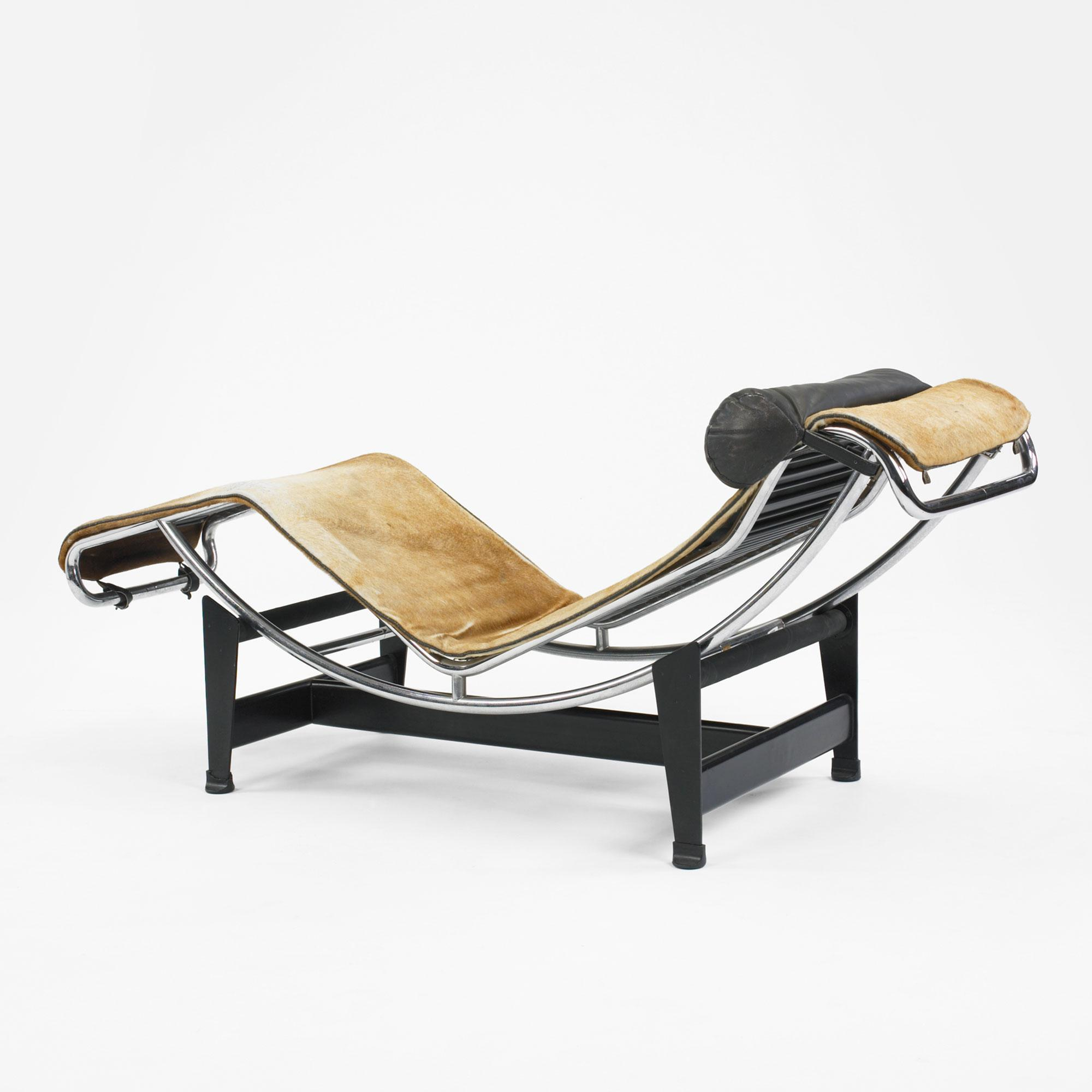 Charlotte perriand pierre jeanneret and le corbusier lc 4 for Chaise lounge corbusier