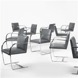 Ludwig Mies van der Rohe Brno chairs, set of ten