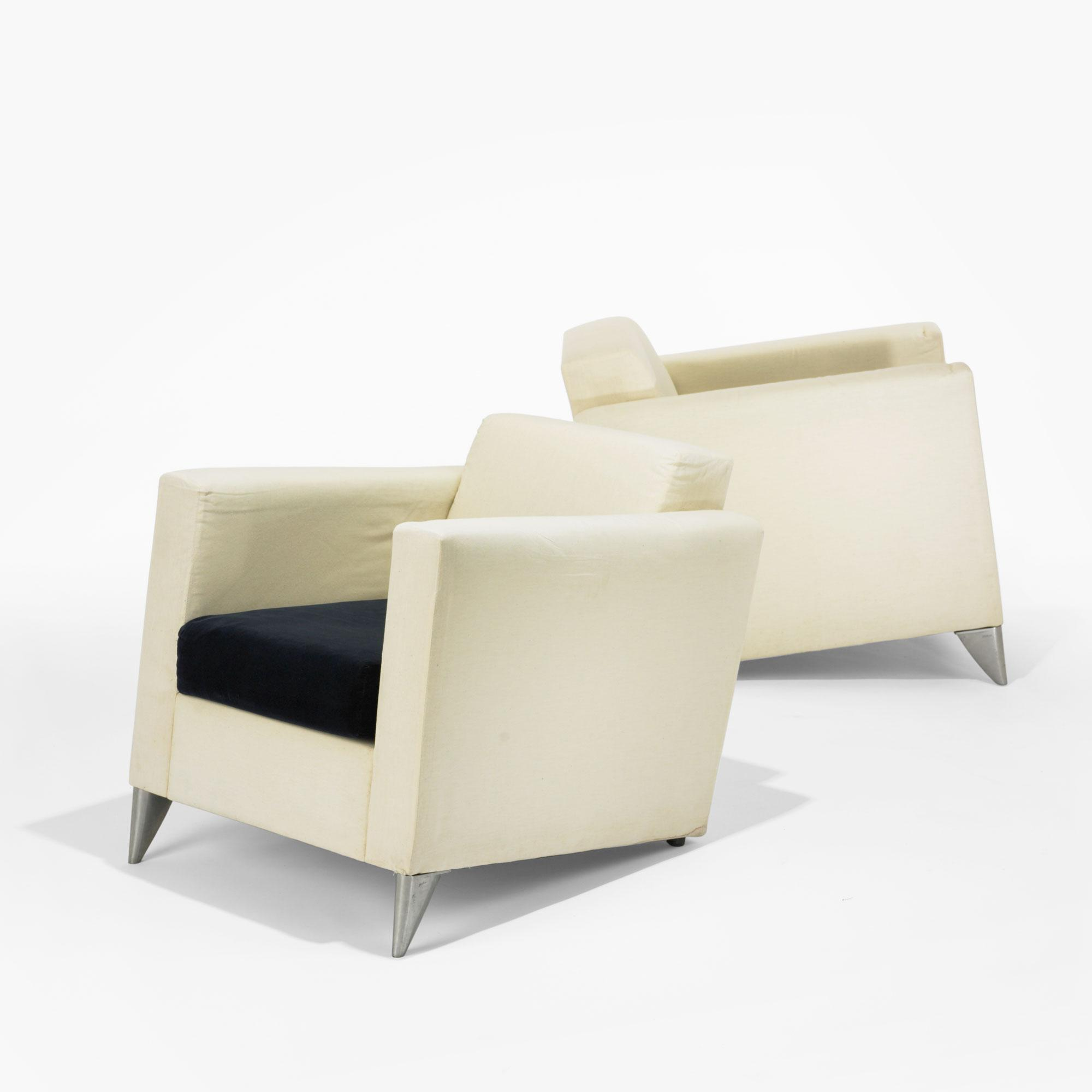 Philippe Starck Len philippe starck pair of len niggelman lounge chairs from the