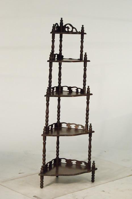 Southern Style 5 Tier Corner Shelf Loading Zoom