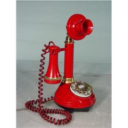 1973 Red Candlestick Telephone