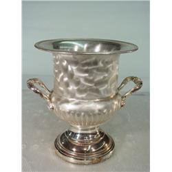 Silver Ice Bucket with Handles in a Brushed Finished