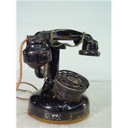 Antique Metal Candlestick Telephone