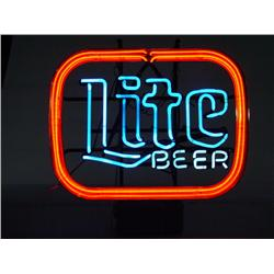 "Vintage Miller Lite ""Lite Beer"" Neon Bar Sign"
